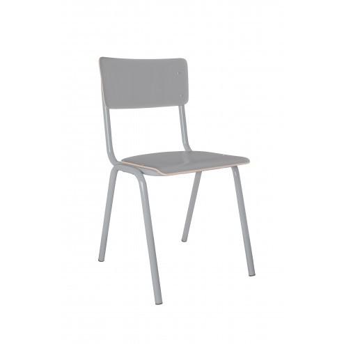 ZUIVER BACK TO SCHOOL STOEL SET VAN 4 GRIJS   cm47 x 43 x h83
