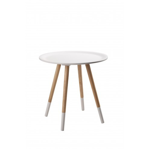 ZUIVER TWO TONE TAFEL WIT cm 48 x h47,5