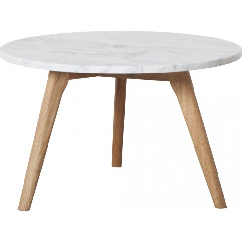 ZUIVER WHITE STONE TAFEL LARGE MARMER cm dia50 x h32