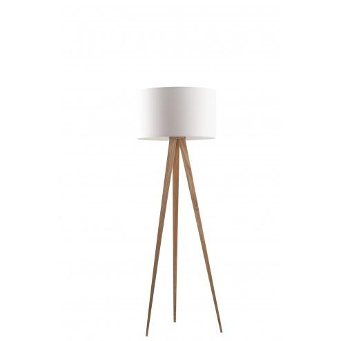 ZUIVER TRIPOD WOOD STAANDE LAMP WIT cm dia50 x h151