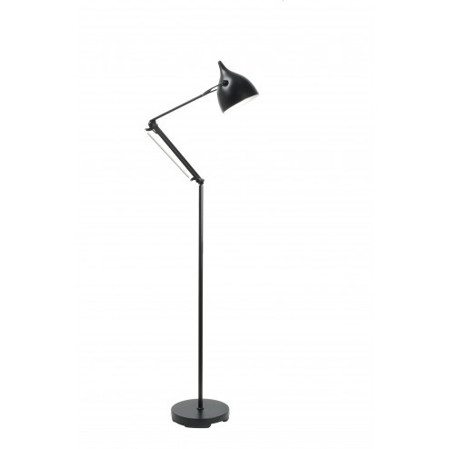 ZUIVER READER STAANDE LAMP ZWART cm dia25 x h137-167