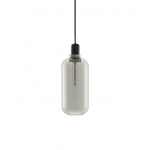 NORMANN COPENHAGEN AMP LAMP LARGE SMOKE/ZWART cm dia11,2 x h26