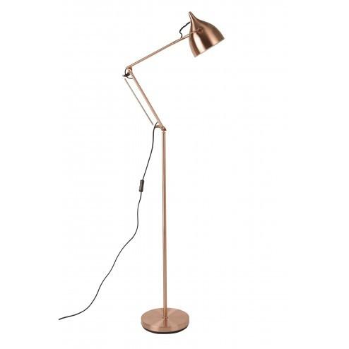 ZUIVER READER STAANDE LAMP KOPER cm dia25 x h137-167