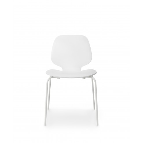 NORMANN COPENHAGEN MY CHAIR SET VAN 4 WIT/WIT cm 50 x 53 x h80