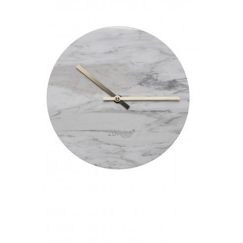 ZUIVER MARBLE TIME KLOK MARMER cm dia25 x h4,5 cm