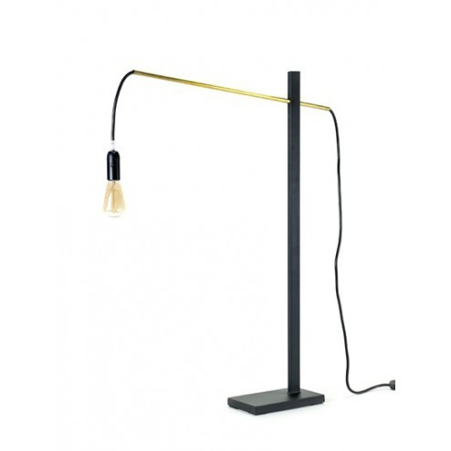 SERAX FLAMINGO LAMP SMALL ZWART/MESSING cm 50 x 10 x h73