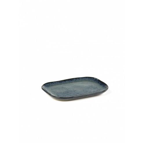 SERAX BORD RECHTHOEKIG MERCI N°3 BLAUW/GRIJS cm 14,5 x 10,5 x h 1,4