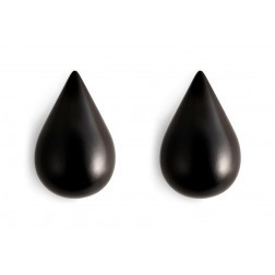 NORMANN COPENHAGEN DROPIT SMALL ZWART SET VAN 2 mm 77 x 50 x 80