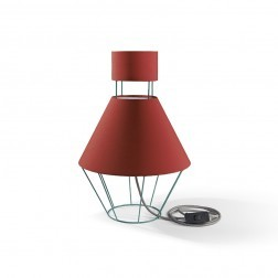 ATIPICO BALLOON LAMP GROEN/ROOD mm dia300 x h445