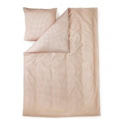 NORMANN COPENHAGEN PLUS & CUBE BED LINNEN ROZE cm 140 x 200 + cm 63 x 60
