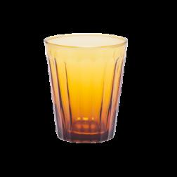 BITOSSI LUCCA WATERGLAS PER SET VAN 6 cm dia9,5 x h11,5 amber