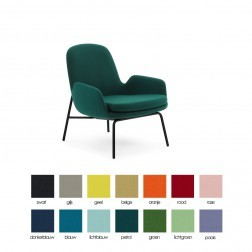NORMANN COPENHAGEN ERA LOUNGE LOW zwart cm 75 x 72 x h77