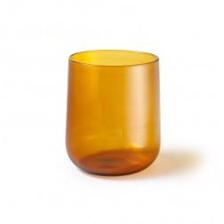ATIPICO CRUDO GLAS PER SET VAN 4 GEEL GROOT cm dia9/8 x h10