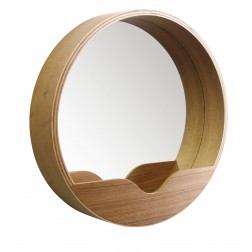 ZUIVER ROUND WALL SPIEGEL HOUT SMALL cm dia40 x 8